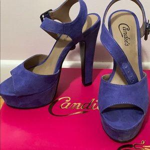 Candie's open toe block heels
